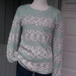 Maurices Aqua strip Cuddlely Sweater
